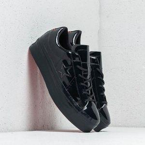 converse leather platforms